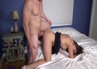 High heeled sister sucks my hard dick
