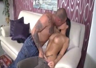 Big tit sister have sex with a tattooed brother