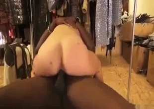 White stepsister rides her black brother boner