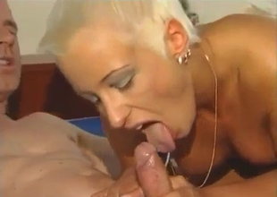Daddy licks a toned pussy of his daughter