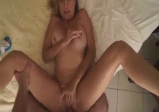 Big boobed mother gets banged from behind