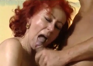 My slutty redhead mummy enjoys filthy incest sex