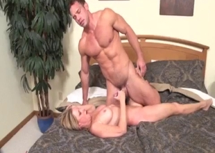 Chubby sister bangs with a muscled brother