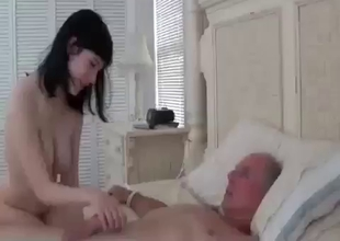 Grandpa bangs a dick loving busty stepdaughter